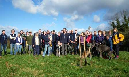 Minnowburn community planting group photo date nationaltrustcopyright